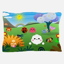 Happy Colorful Planet 01 Pillow Case