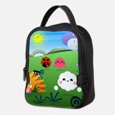 Happy Colorful Planet 01 Neoprene Lunch Bag