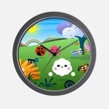 Happy Colorful Planet 01 Wall Clock