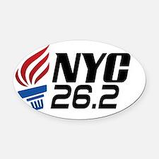 NYC Marathon Oval Car Magnet