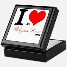 I heart my Belgian Hare Keepsake Box