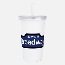 Broadway, New York Cit Acrylic Double-wall Tumbler