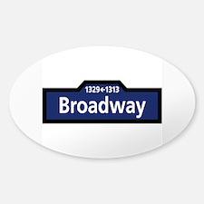 Broadway, New York City Sticker (Oval)