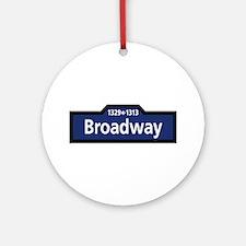 Broadway, New York City Round Ornament