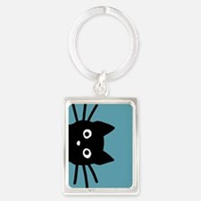 Cute Cat animals Portrait Keychain