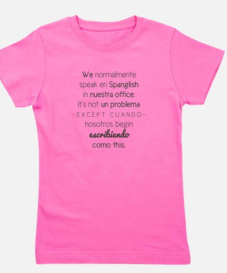 Cute Spanglish Girl's Tee