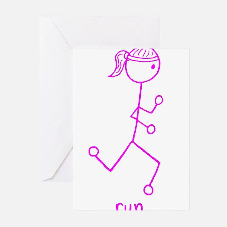 Cute Walk jog run sprint Greeting Cards (Pk of 20)