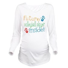 Funny Volleyball Long Sleeve Maternity T-Shirt
