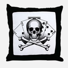 Dead Mans Hand: Aces and Eights Throw Pillow