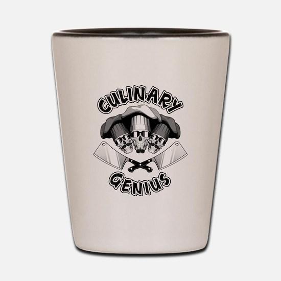 Culinary Genius Skulls Shot Glass