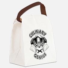 Culinary Genius Skulls Canvas Lunch Bag