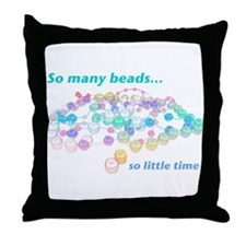 So Many Beads Throw Pillow