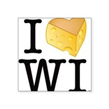 "Cute Wisconsin Square Sticker 3"" x 3"""