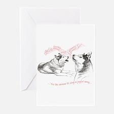 Cute Siberian huskies Greeting Cards (Pk of 20)