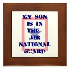 My son is in the Air National Framed Tile