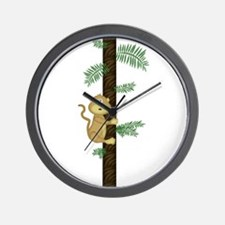 Cool Monkey and palm tree Wall Clock