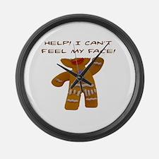 Cute Gingerbread Large Wall Clock