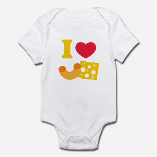 I Heart Mac And Cheese Infant Bodysuit