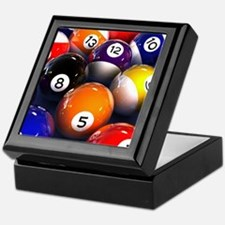 Billiard Balls Keepsake Box