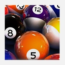 Billiard Balls Tile Coaster