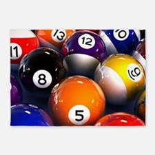 Billiard Balls 5'x7'Area Rug
