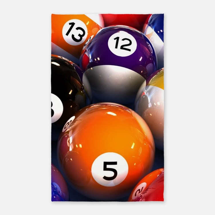Billiard Balls Area Rug