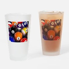 Billiard Balls Drinking Glass