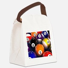 Billiard Balls Canvas Lunch Bag