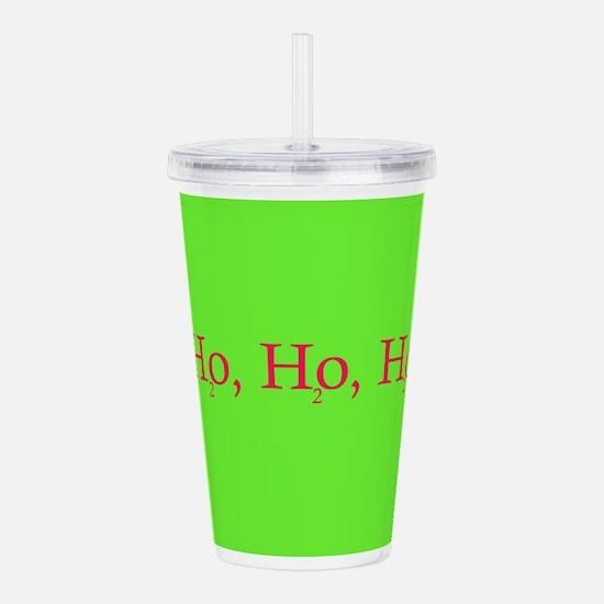 Ho Ho Ho Chemistry style Acrylic Double-wall Tumbl