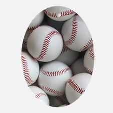 Baseball Balls Oval Ornament