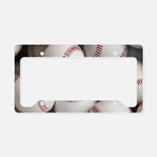 Baseball Balls License Plate Holder