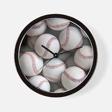 Baseball Balls Wall Clock