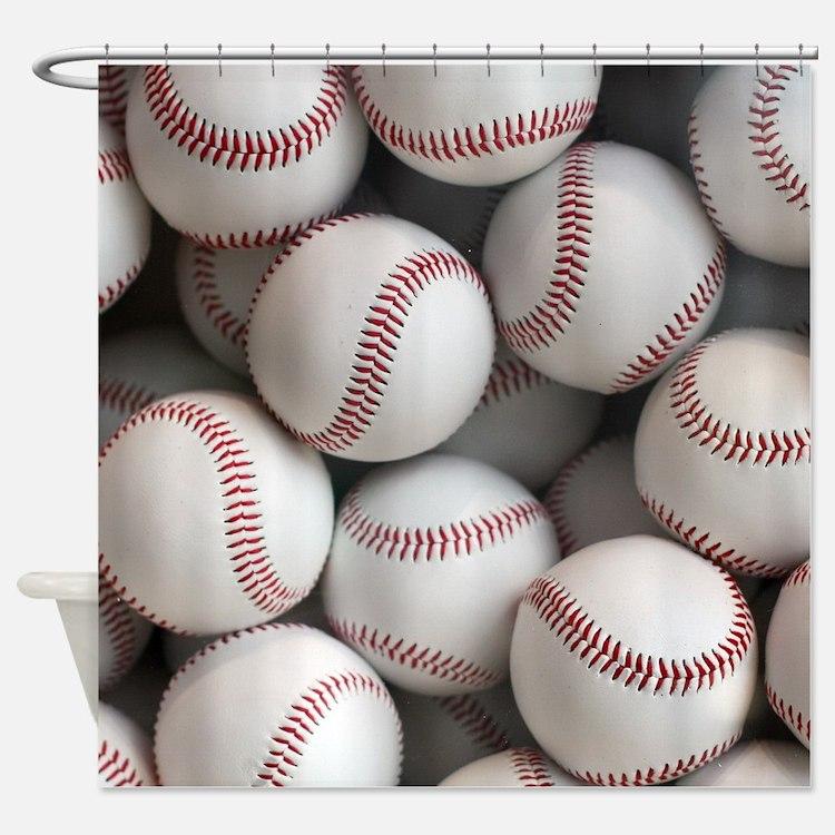 Baseball Balls Shower Curtain