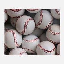 Baseball Balls Throw Blanket