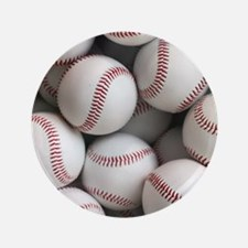 Baseball Balls Button