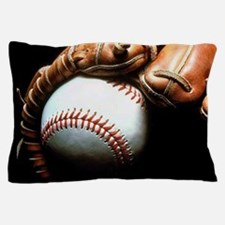 Baseball Ball And Mitt Pillow Case