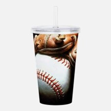Baseball Ball And Mitt Acrylic Double-wall Tumbler