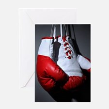 Boxing Gloves Greeting Cards