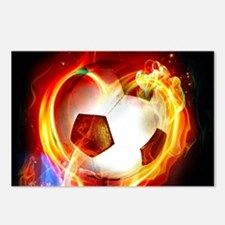 Flaming Football Ball Postcards (Package of 8)