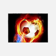 Flaming Football Ball 5'x7'Area Rug