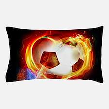 Flaming Football Ball Pillow Case