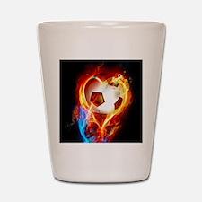 Flaming Football Ball Shot Glass