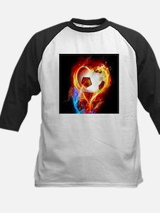 Flaming Football Ball Baseball Jersey