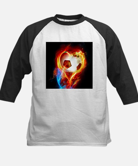 Flaming Football Ball Baseball Jersey