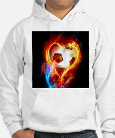 Flaming Football Ball Jumper Hoody