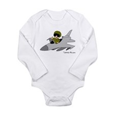 Unique Jets Long Sleeve Infant Bodysuit