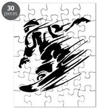 Cute Sports skiing baby Puzzle