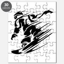 Funny Snowboarding baby Puzzle