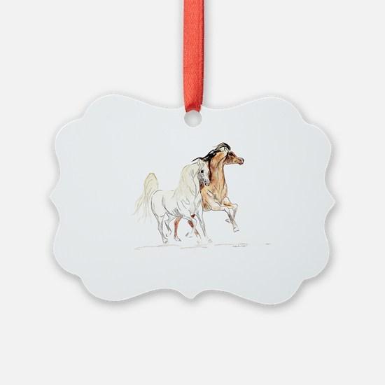 Arabian Horse Stallions Ornament