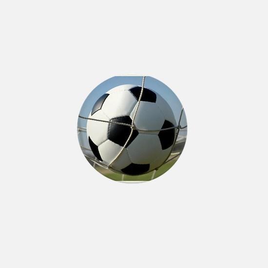Football Ball In Net Mini Button